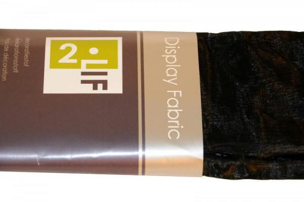 Stoff 150cmx3m Organza, schwarz
