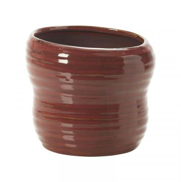 Kübel Keramik D18,5H16,5cm Jaques, rot