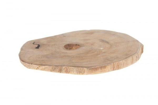 Scheibe Holz 23x23x2cm, natur