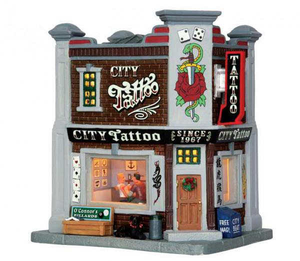 City Tattoo 18x19,3cm 4,5V LED Beleuchtet