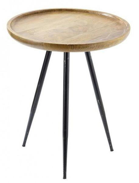 Tisch Holzmetall 52x62cm Schwnatur Tische Möbel Sortiment