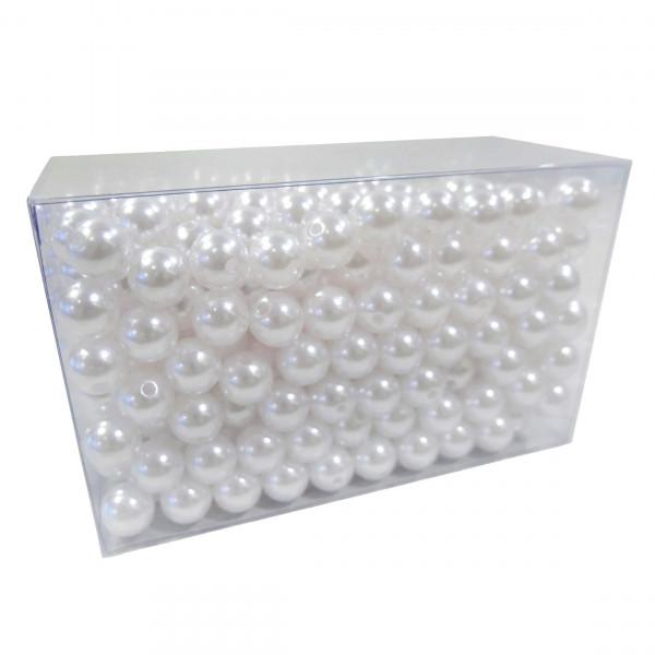 Perlen 14mm 500g, weiß