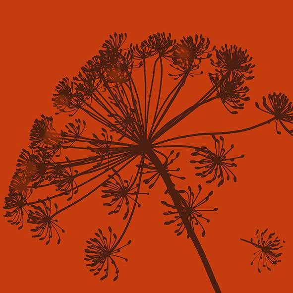 Servietten Pure Botanic 33cm 20 Stück, rost