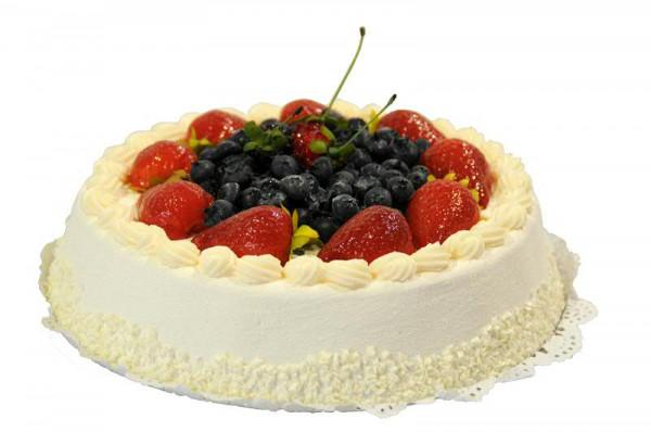 Torte D22h8cm Erdbeeren Heidelbeeren Creme Kuchen Torten