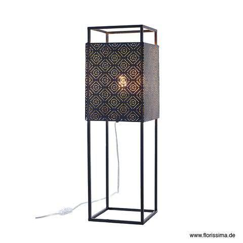 Stehlampe Metall D19H61cm Schalter, schwarz
