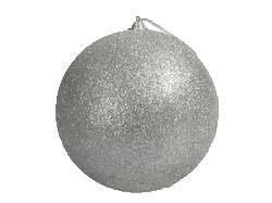Kugel 18cm Glitter, silber
