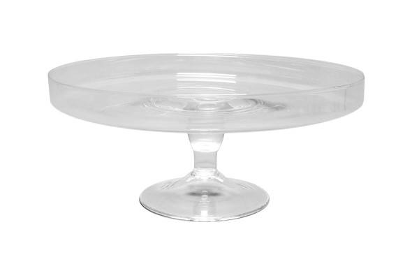 Glas Tortenplatte D29H13,5cm m.Rand, klar