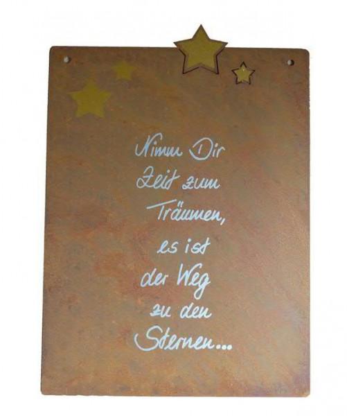 Rost Schild 35x25cm Zeit zum Träumen