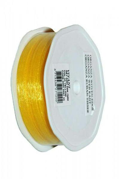 Band Organza 5065/7mm 50m, 55 gelb