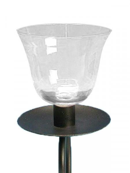 Glas Partylicht D10,5cmH11cm