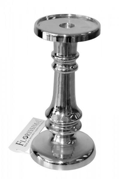 Kerzenleuchter Metall H22cm, silber