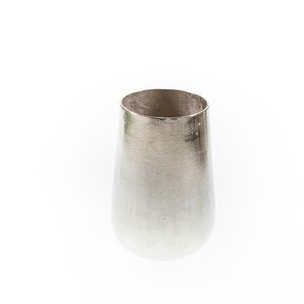 Vase Alu antik D20xH29cm, silber