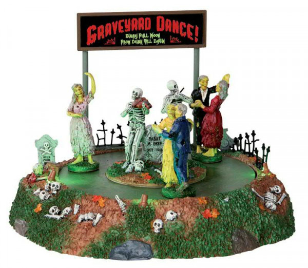 Halloween Graveyard Dance 22x16cm animiert 4,5V, Batteriebetrieben