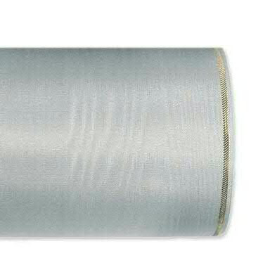 Kranzband 4422/075mm 25m Moire Goldrand, 221 grau
