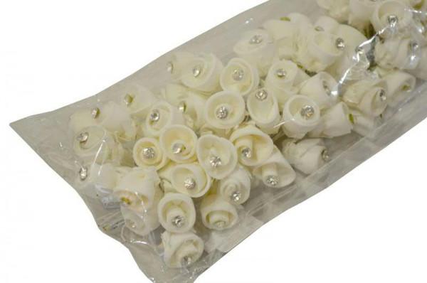 Rose Diamant 2cm 10St./Bd., weiß