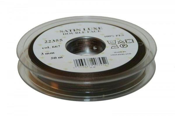 Band Satin 22355/03mm 50m, 667 dkl.br