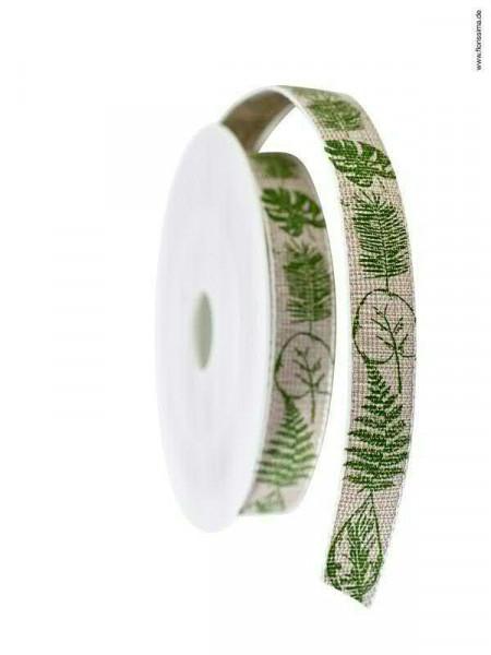 Band 633/15mm 15m Blätter, 72 grün
