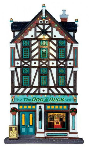 Fassade The Dog & Duck Pub 17,2x30,2cm Beleuchtet, Batteriebetrieben