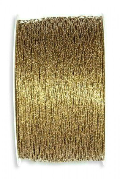 Band 2210/40mm 15m Stretch-Gitter, 311 gold