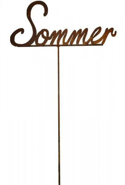 Rost Schriftzug Sommer 62x26x120cm