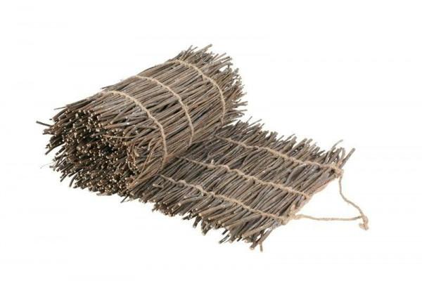 Matte Zweige 35x180cm, natur/weiß
