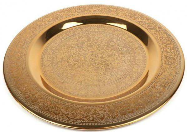Teller Metall D50cm Marrakesch, gold