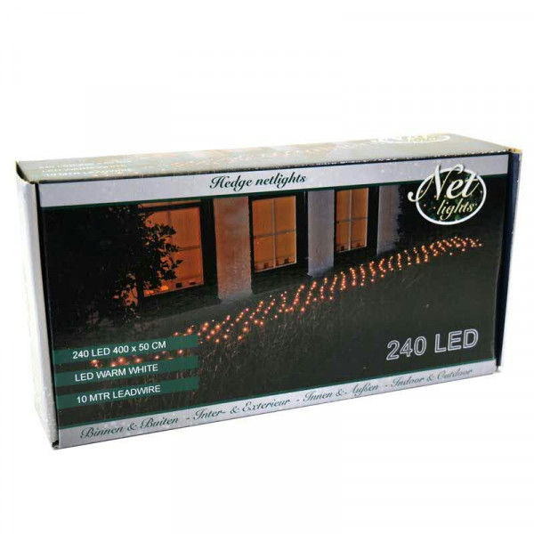 Lichternetz 240LED 0,4x5m f.Hecke, outdoor ww
