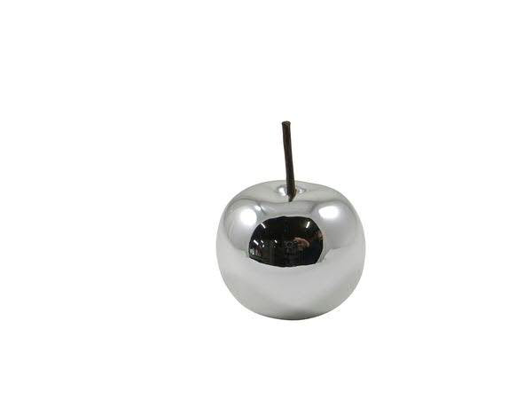 Apfel Dolomit 8x6,5cm, silber