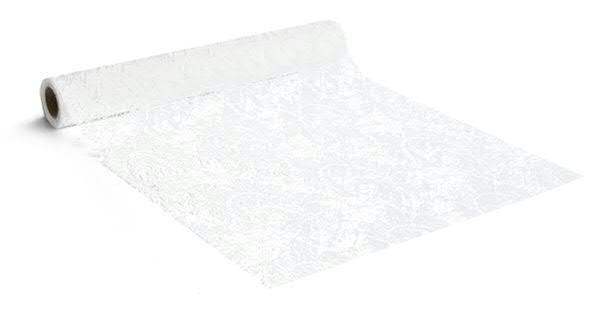 Stoff 4532/280mm 2,5m Spitze, 00 weiß