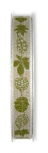 Band 556/15mm 20m Blätter, 72 natur