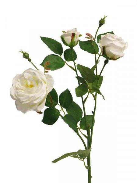 Rose verzweigt 61cm x3, creme