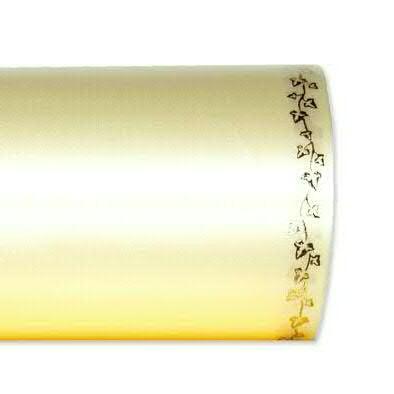 Kranzband 2505/150mm 25m Satin Efeurand gold, 778 champa