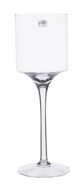 Glas Schale a.Fuß H45cm, klar