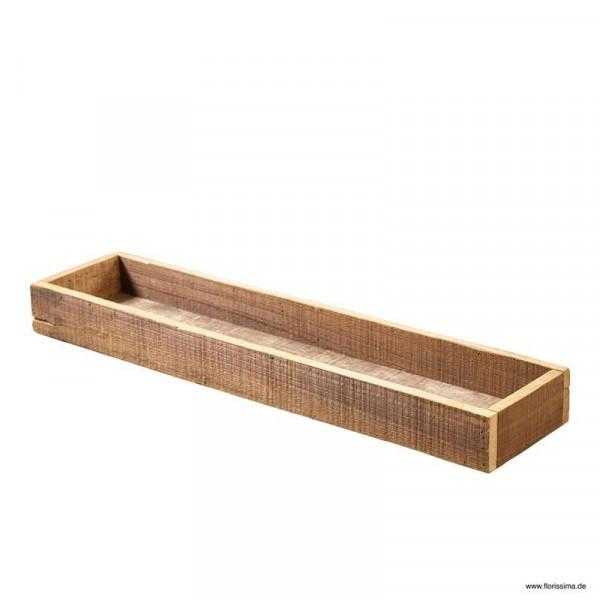 Tablett Holz 60x14x6cm, natur
