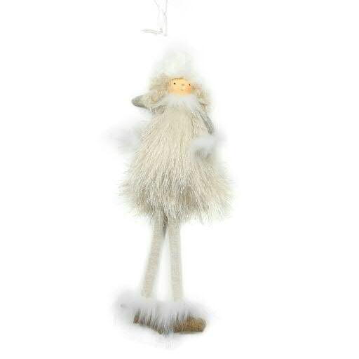 Puppe Plüsch 32cm zum Hängen, creme