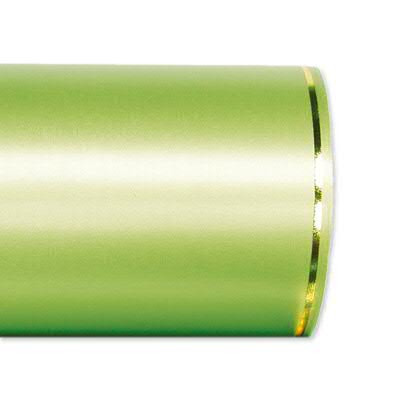 Kranzband 2501/100mm 25m Satin Goldrand, 703 apfel