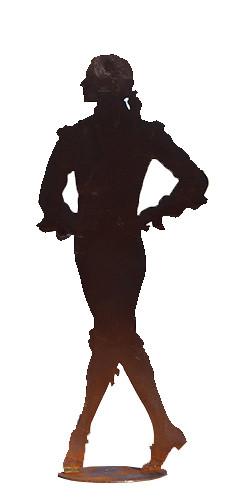 Rost Tänzer H27B11cm auf Platte
