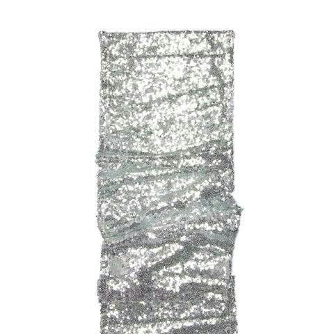 Tischläufer 24cmx2m Pailletten, 211 silber