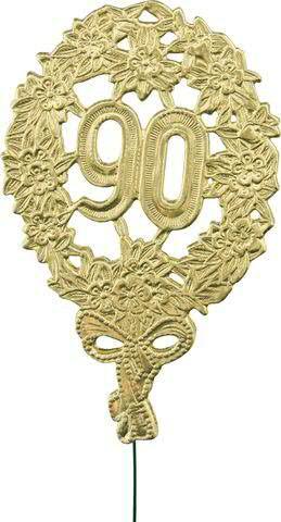 Zahlen Jubiläum 8x12cm 90 10St., gold