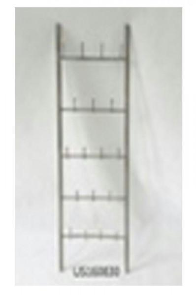 Garderobe Metall 44x175cm mit Haken, braun