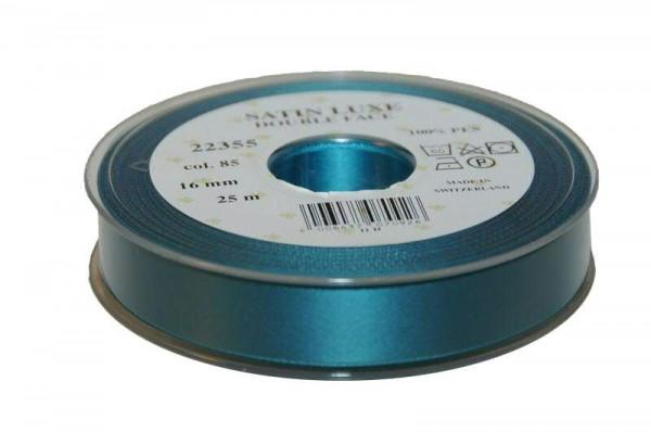Band Satin 22355/16mm 25m, 085 petrol