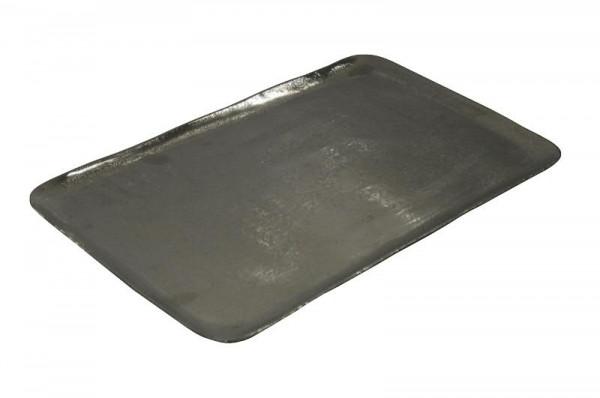 Tablett Alu antik 45x27cm