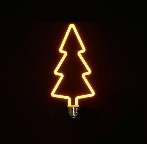 Lampe LED Tanne 11x24cm E27 4W mit Dimmer 1800K, warm weiß