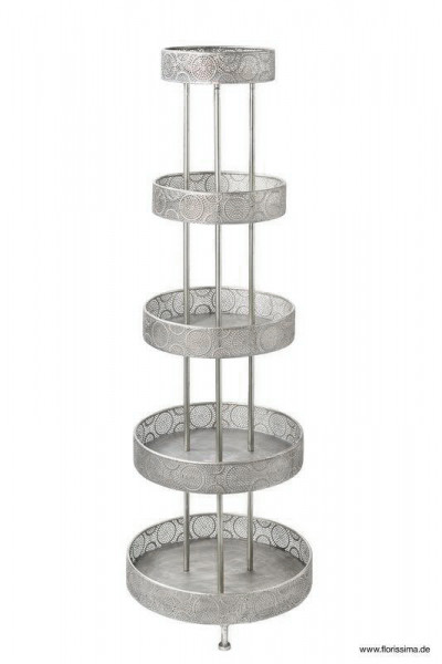 Etagere Metall x5 D50H150cm, silber