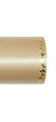 Kranzband 2505/175mm 25m Satin Efeurand gold, 779 sand