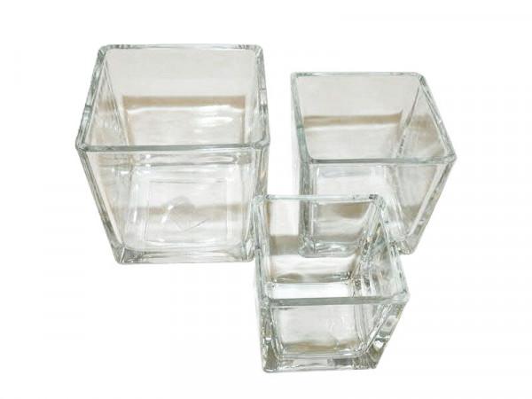Glas Kasten 12x12x12cm, klar