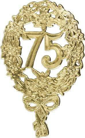 Zahlen Jubiläum 8x12cm 75 10St., gold