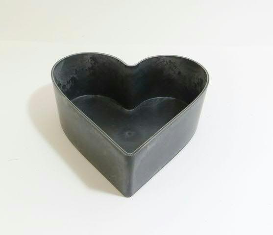 Schale Herz Kunststoff 22x20x7,5cm, natur