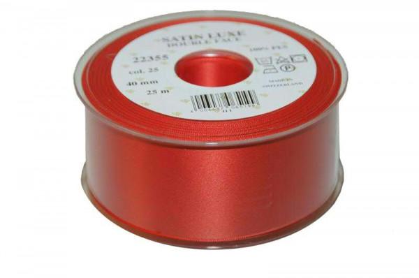 Band Satin 22355/40mm 25m, 025 rot