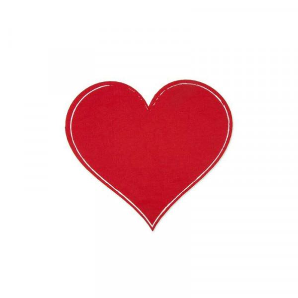 Tafelstoff Sticker Herz D25cm, rot
